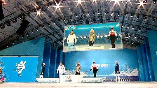 Церемонія нагородження на олімпійських іграх в сочи