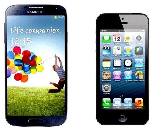 Чим відрізняється iphone 5 і samsung galaxy s4