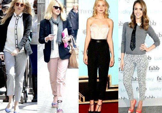 Що носити з укороченими брюками