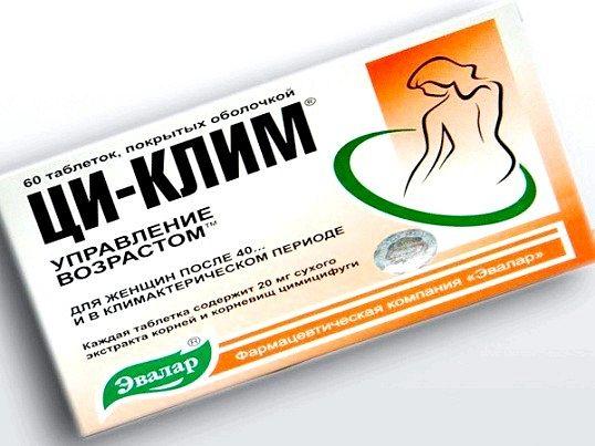 Що входить до складу таблеток «ци-клімат евалар»