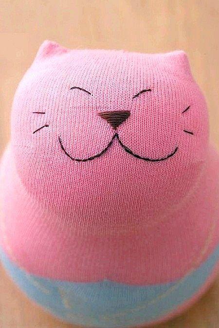 Іграшка-кіт з носка