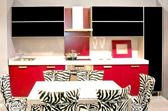 Інтер'єр кухні в червоно-чорному кольорі