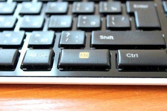 Як відключити клавішу fn на нетбуці
