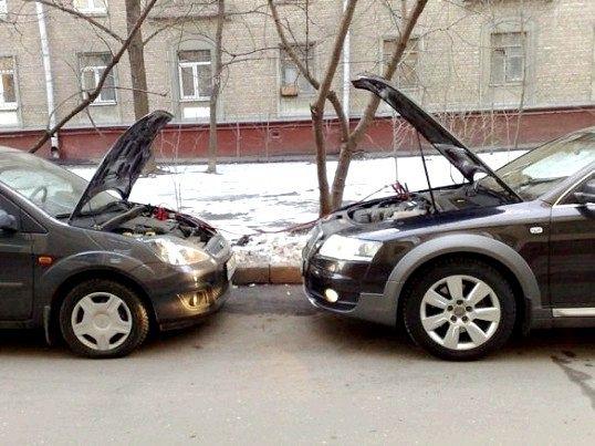 Як прикурити від іншої машини