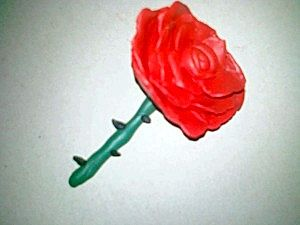 Як просто зробити троянду з пластиліну