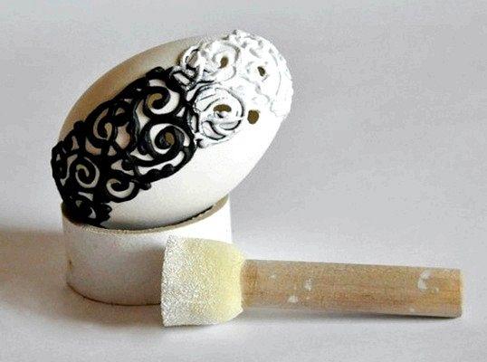 Як зробити декор яйця у вінтажному стилі