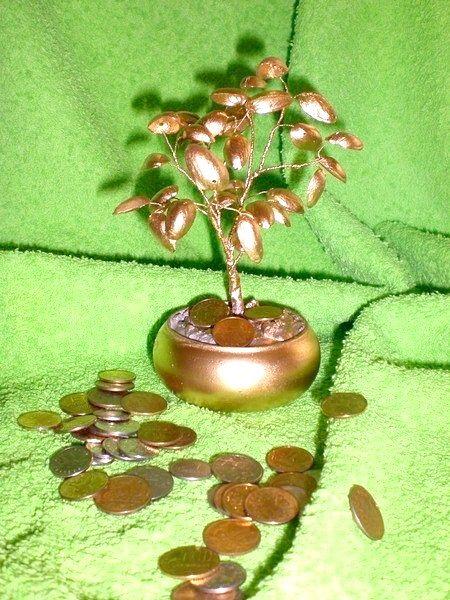 Як зробити грошове дерево з фісташок