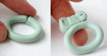 Як зробити кільце з полімерної глини