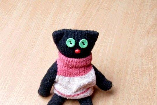 Як зробити кота з рукавички