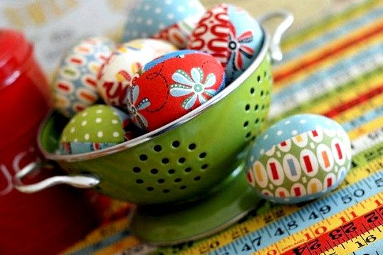 Як зробити великодні яйця з тканини