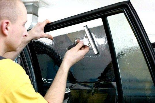 Як зняти тонування зі стекол