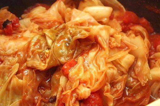 Як гасити капусту з томатною пастою