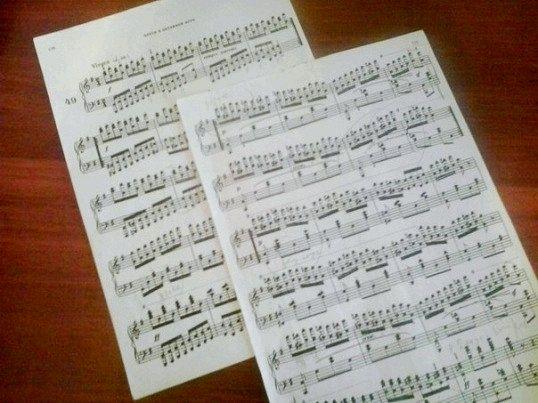 фортепіанні ноти