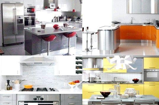 Кухня в кольорі сірий металік