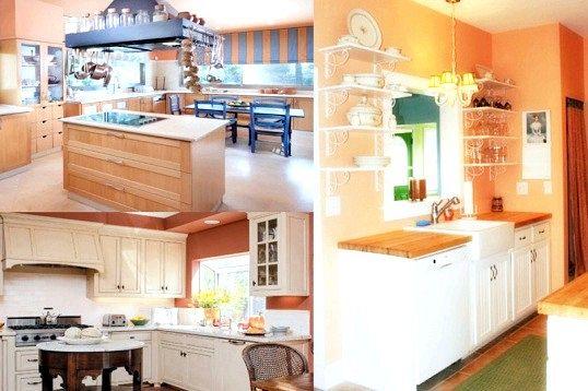 Кухня в персиковому кольорі