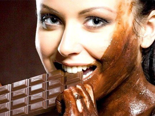 Маски для обличчя з шоколаду і какао