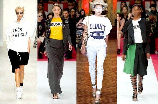 Одяг з написами: модно чи банально?