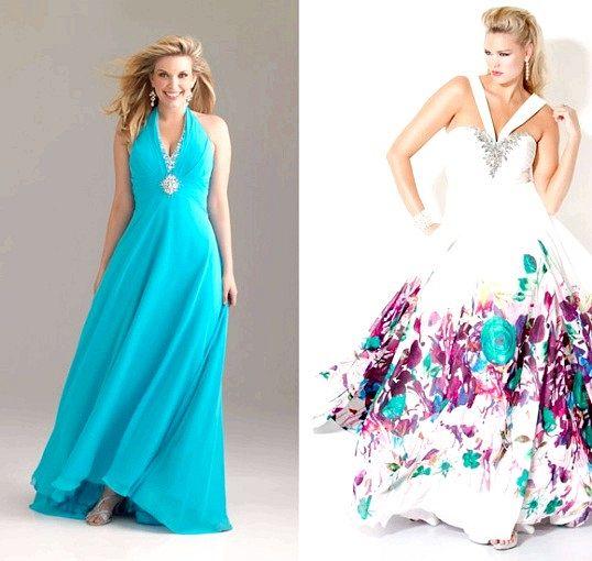 Сукні для повних до випускного балу