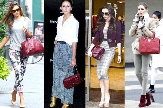 З чим носити бордову сумку