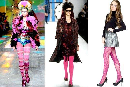 З чим носити рожеві колготки