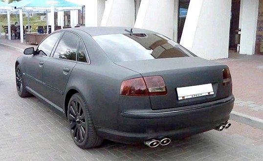Мінуси і плюси фарбування автомобіля в чорний матовий колір