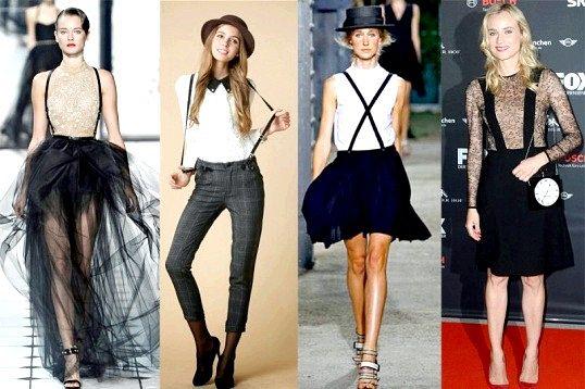 Порада 1: модно носити брюки з підтяжками