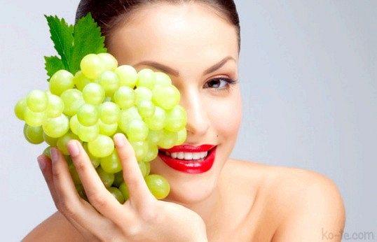 Виноградні маски для шкіри навколо очей